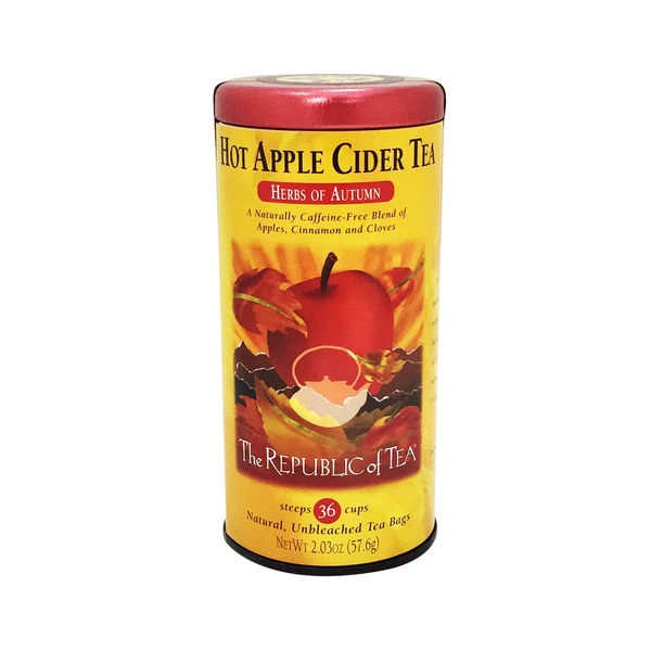 The Republic of Tea Hot Apple Cider Tea Herbs Of Autumn
