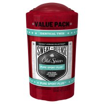 Old Spice Hardest Working Collection Sweat Defense Anti-Perspirant Pure Sport Plus Twin Pack 2.6 oz