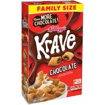 Kellogg's Krave Chocolate Cereal Family Size 19.9 oz