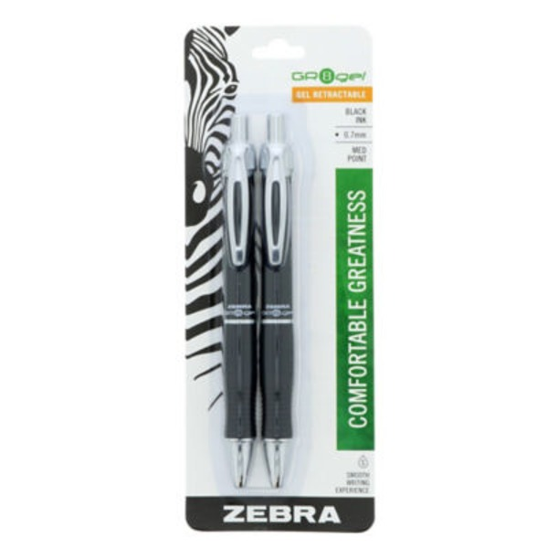 Zebra Great Black Gel Pens