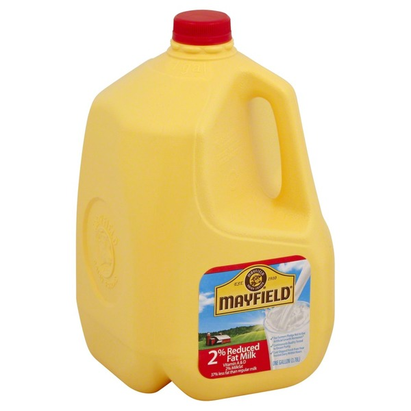 Mayfield 2% Reduced Fat, Milk, Jug