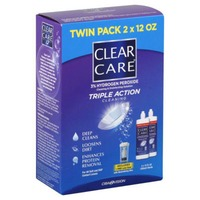 Clear Care Triple Action Cleaning Twin Pack
