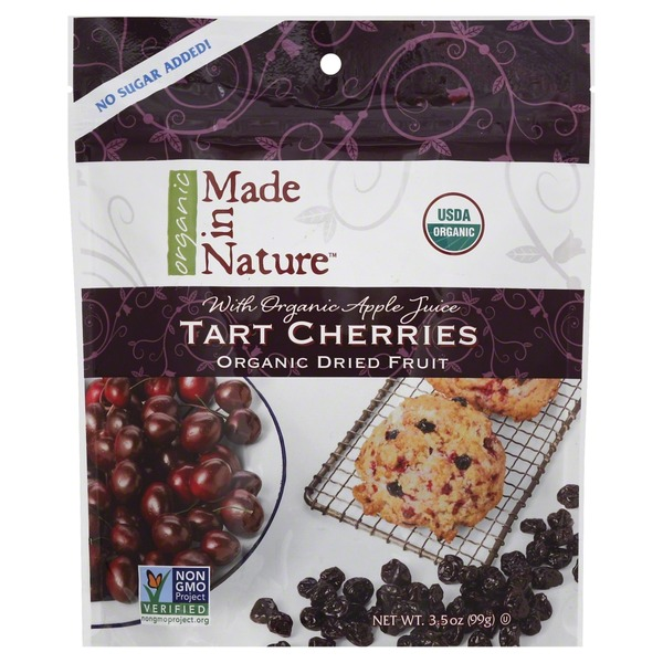 Made in Nature Cherries, Tart, Organic Dried Fruit