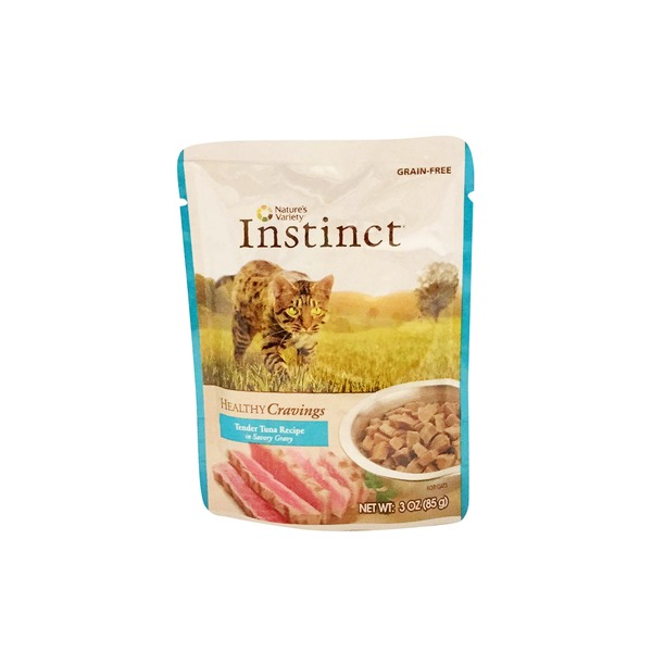 Nature's Variety Gluten Free Healthy Cravings Tender Tuna Recipe In Savory Gravy Cat Food Pouch