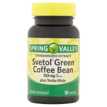 Spring Valley Svetol Green Coffee Bean Extract Capsules, 133 mg, 30 Ct