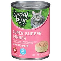 Special Kitty Classic Pate Super Supper Dinner Wet Cat Food, 13 Oz