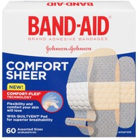 Band Aid® Brand Adhesive Bandages Comfort Sheer 60 ct Assorted Posted 5/7/2014 Value
