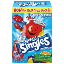 Kool-Aid Singles Drink Mix, Tropical Punch, .55 Oz, 12 Packets, 1 Count