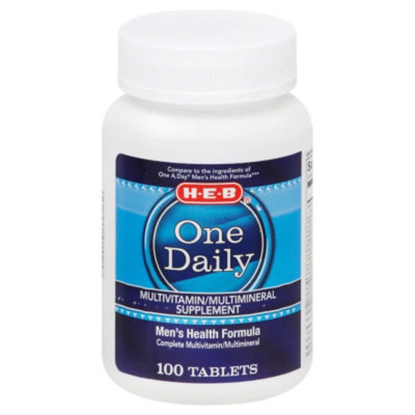 H-E-B One Daily Men's Multivitamin Tablets