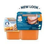 Gerber 2nd Foods Nutritious Dinners Sweet Potato & Turkey with Whole Grains Baby Food, 4 oz Tubs, 2 Count