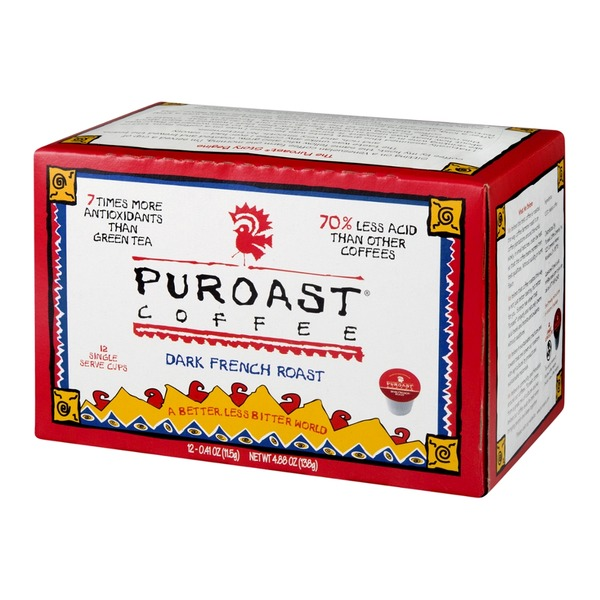 Puroast Low Acid Coffee, Dark French Roast