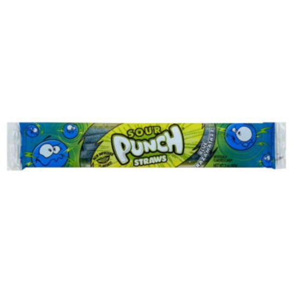 Sour Punch Straws Blue Raspberry