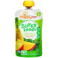 Happy Tot Organic Superfoods Pears, Mangos & Spinach Stage 4 Baby Food