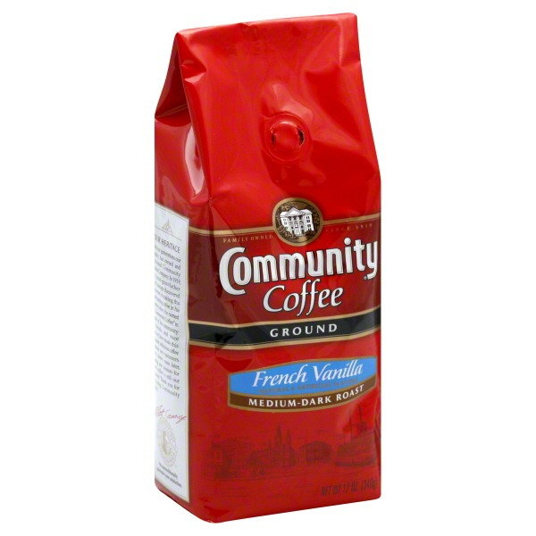 Community Coffee Coffee, Ground, Medium-Dark Roast, French Vanilla