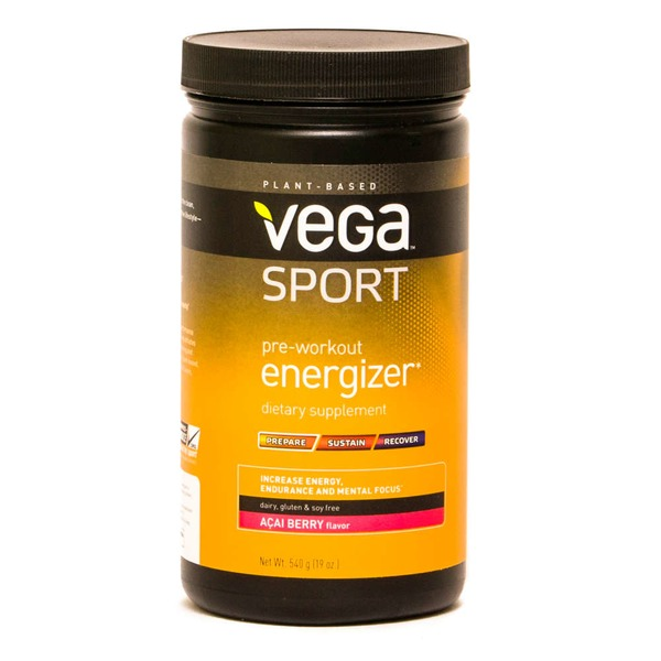 Vega Sport Pre-Workout Energizer Acai Berry Powder Dietary Supplement