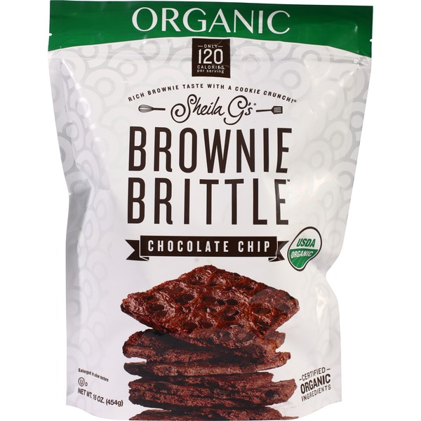 Sheila G's Organic Brownie Brittle, 16 Oz