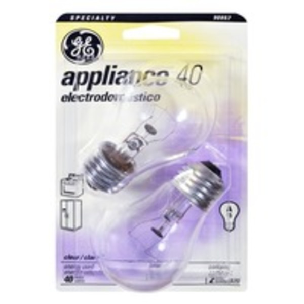 GE Appliance Lightbulb Clear 40W - 2 CT