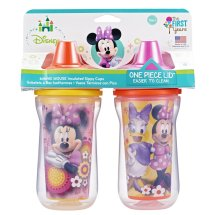 The First Years Disney Insulated Hard Spout Sippy Cup - Minnie Mouse, 2 pack