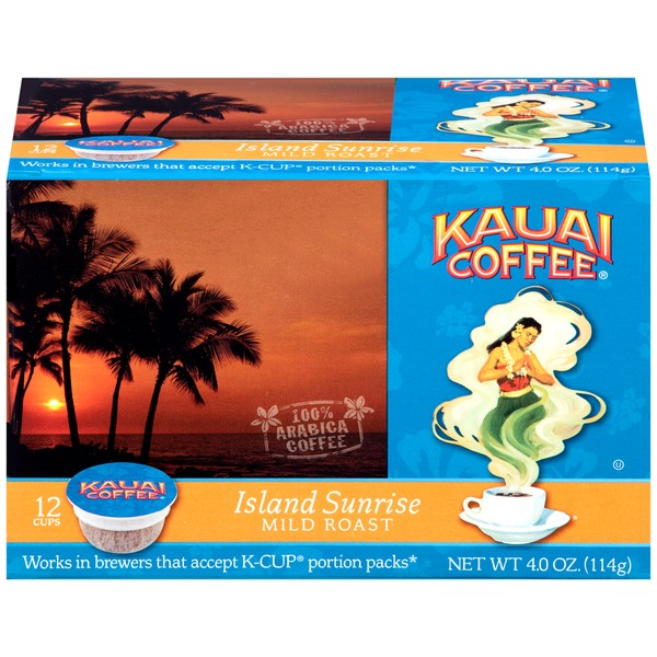 Kauai Coffee Island Sunrise Mild Roast Pods Coffee