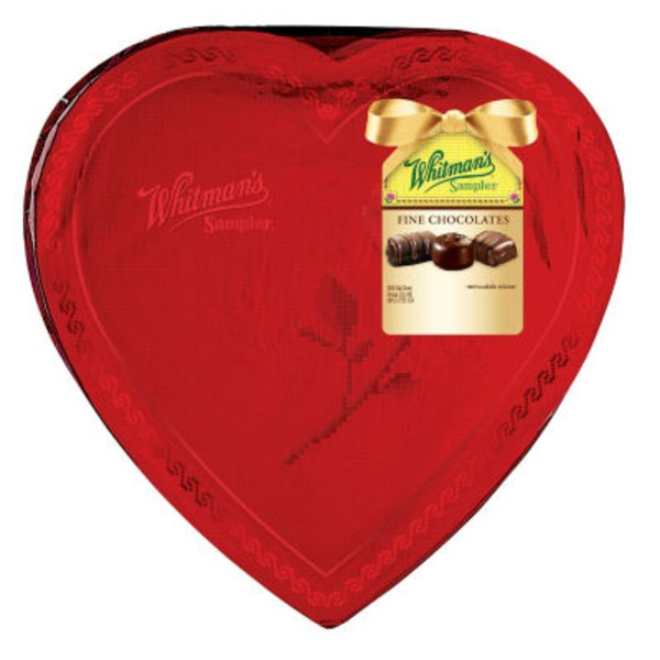 Whitman's Fine Chocolates Sampler In Heart Foil Box