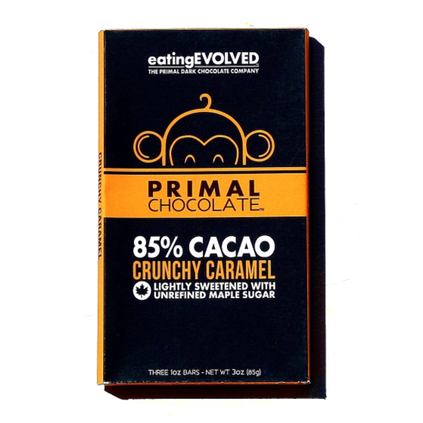 Eating Evolved Crunchy Caramel Chocolate