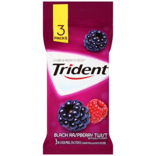 Trident Black Raspberry Twist Sugar Free Gum with Xylitol