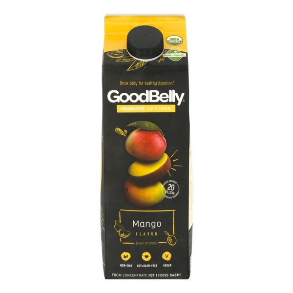 GoodBelly Mango Flavor Probiotic Juice Drink