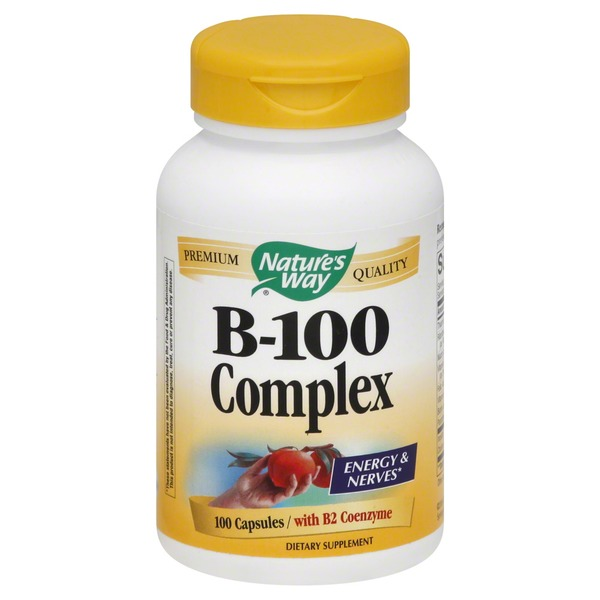 Nature's Way B-100 Complex, with B2 Coenzyme, Capsules