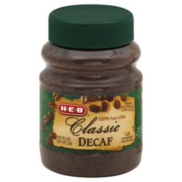 H-E-B Decaffeinated Classic Instant Coffee