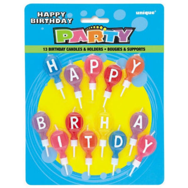 Unique Party Happy Birthday Round Letter Candles