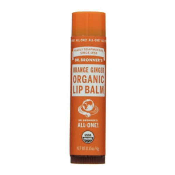 Dr. Bronner's Lip Balm, Organic, Orange Ginger