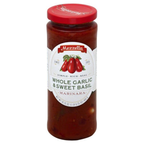 Mezzetta Whole Garlic and Sweet Basil Marinara