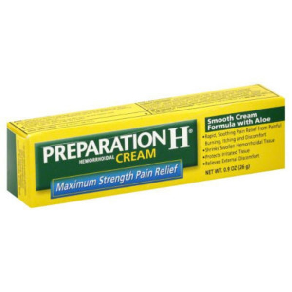 Preparation H Maximum Strength Pain Relief Hemorrhoidal Cream