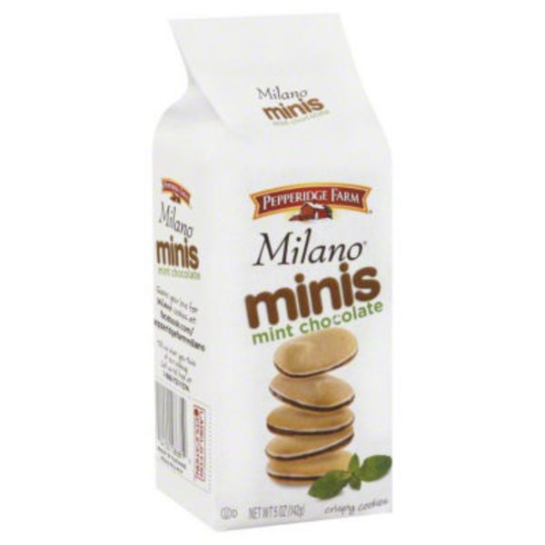 Pepperidge Farm Cookies Milano Minis Mint Chocolate Cookies