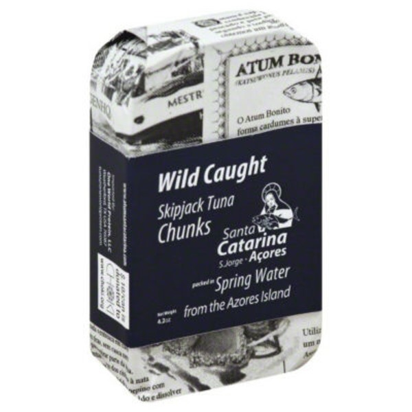 Santa Catarina Wild Caught Skipjack Tuna Chunks Packed in Spring Water