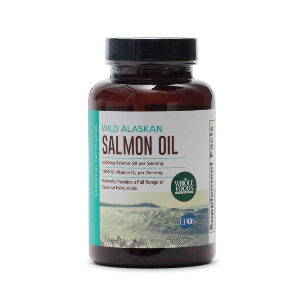 Whole Foods Market Wild Alaskan Salmon Oil Soft Gel