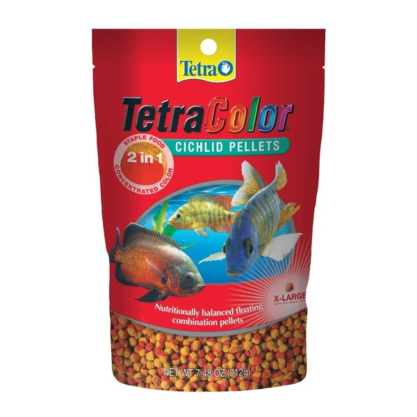 Tetra Extra Large Color Cichlid Food Pellets