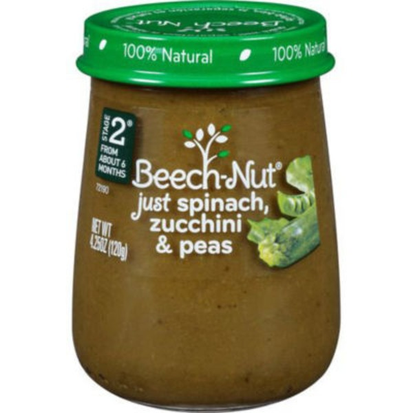 Beech-Nut Naturals Just Spinach, Zucchini & Peas Stage 2