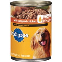 Pedigree Chopped Ground Dinner With Chicken Canned Dog Food, 13.2 Oz
