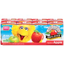Apple & Eve Sesame Street 100% Juice, Big Bird's Apple, 4.23 Fl Oz, 8 Count