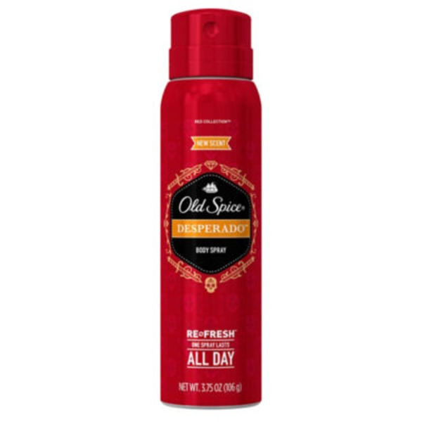Old Spice Red Collection Old Spice Red Collection Body Spray Desperado Scent 3.75 oz AP/DO & Body Spray