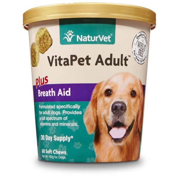 NaturVet VitaPet Plus Breath Aid Adult Dog Soft Chews
