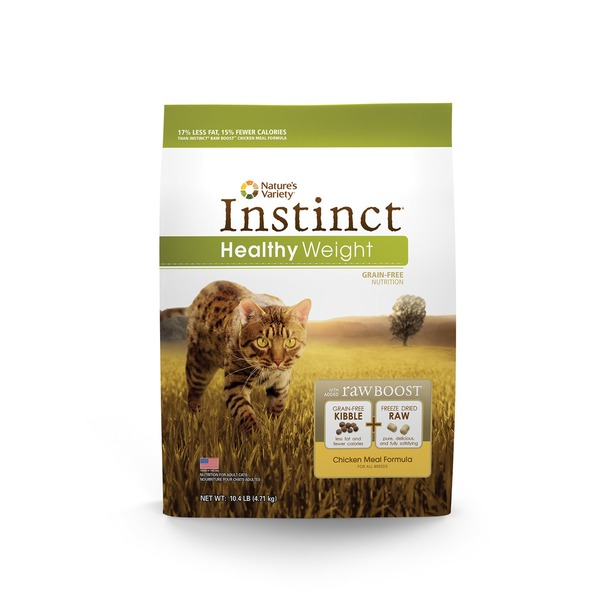 Nature's Variety Instinct Healthy Weight Grain Free Chicken Meal Cat Food 10.4 Lbs.