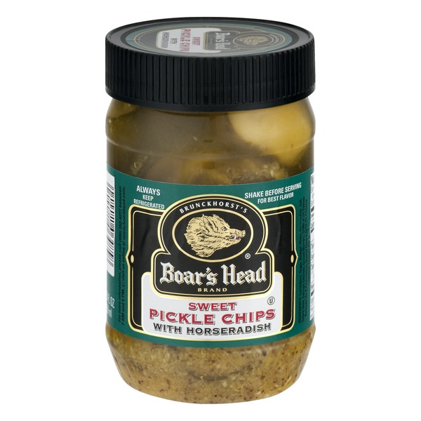 Boar's Head Brand Sweet Pickle Chips With Horseradish