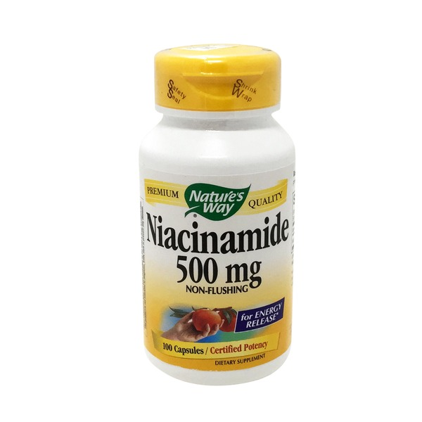 Nature's Way Niacinamide 500 Mg Capsules