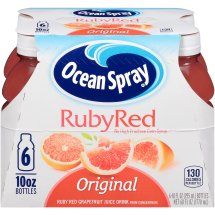 Ocean Spray Fruit Juice, Ruby Red Grapefruit, 10 Fl Oz, 6 Count