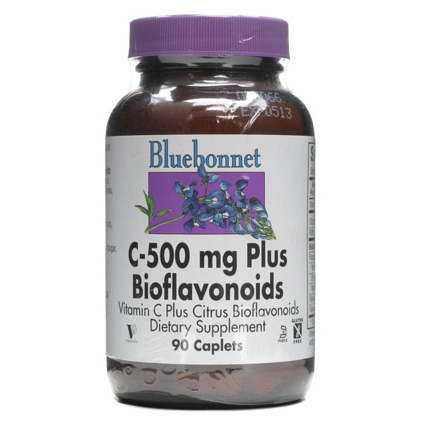 Bluebonnet Nutrition C 500 Mg Plus Bioflavonoids Caplets