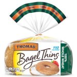 Thomas' 100% Whole Wheat Bagel Thins, 8 ct, 13 oz