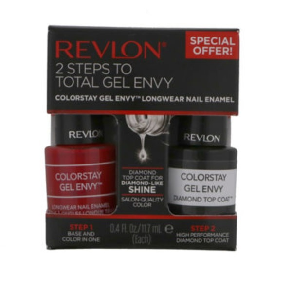 Revlon 2-Steps to Gel Envy Nail Color, 750 Roulette Rush