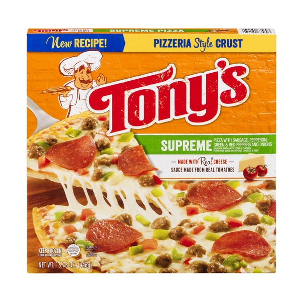 Tony's Pizzeria Style Crust  Pizza Supreme